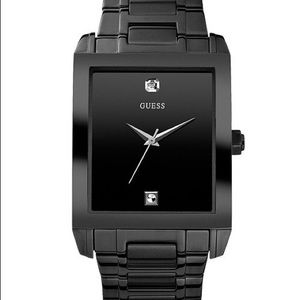 Diamond Accent Black Stainless Steel Watch